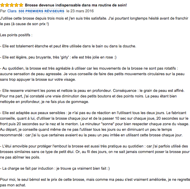 commentaire Clarisonic Mia 2