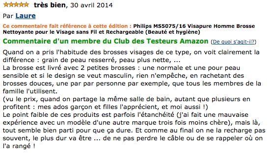 commentaire Philips MS5075/16 Visapure Homme