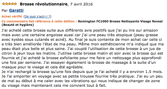commentaire Reveal FC 1000 Remington